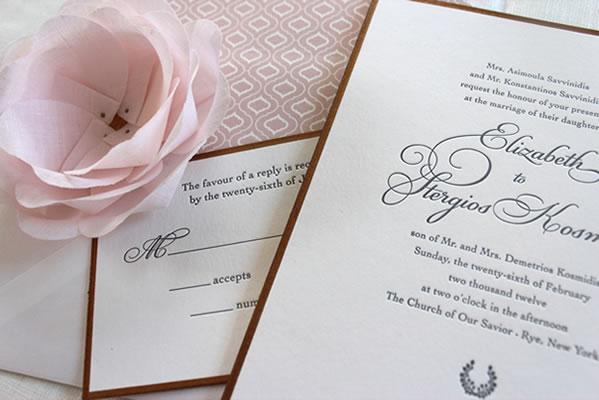 Milwaukee Wedding Invite Monograham Paper