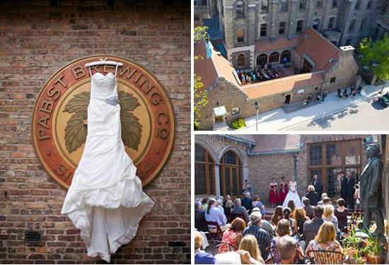 Pabst Brewery Outdoor Wedding