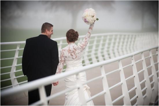 Brady Street Foot Bridge Wedding Photo