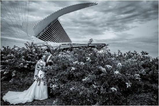 Milwaukee Art Museum Wedding Photographer