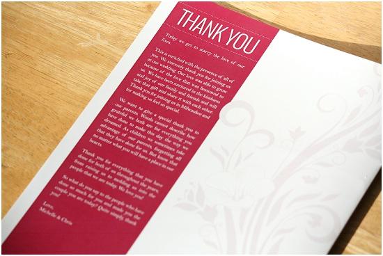 Wedding Program - Thank You