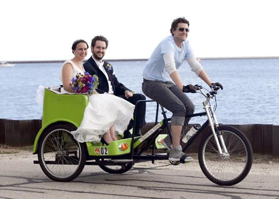 Cream City Rickshaw at a Milwaukee Wedding