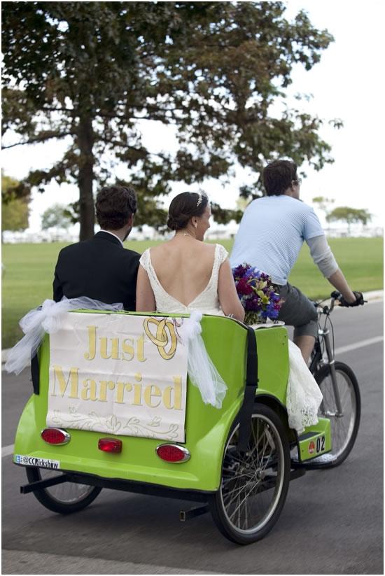 Wedding Transportation by Cream City Rickshaw