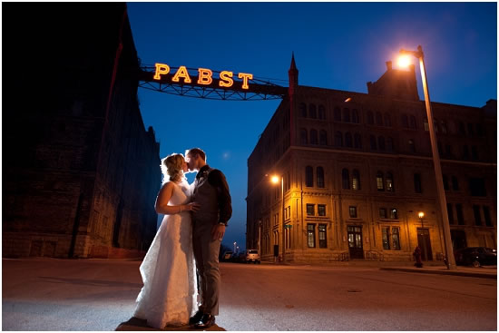Pabst Brewery Wedding Kiss