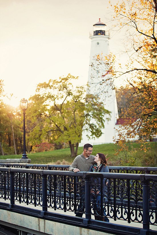 North Point Lighthouse Engagement Photo
