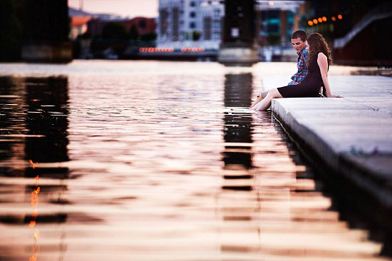 Milwaukee River Engagement Photo