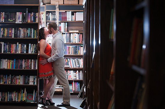 Boswell Book Company Milwaukee Engagement Photo