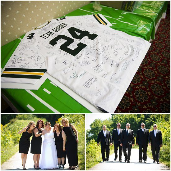 custom jersey was a cool alternative to a guest book. Bridesmaid gifts ...