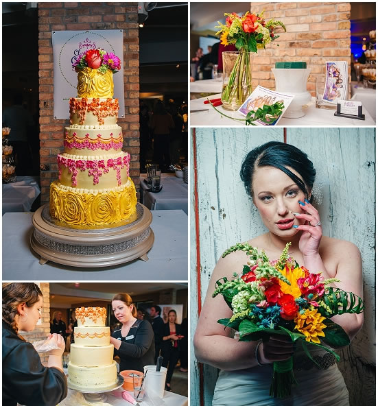 Milwaukee Wedding Cake and Flowers