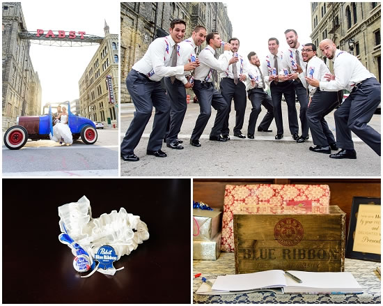 Pabst Beer Themed Wedding
