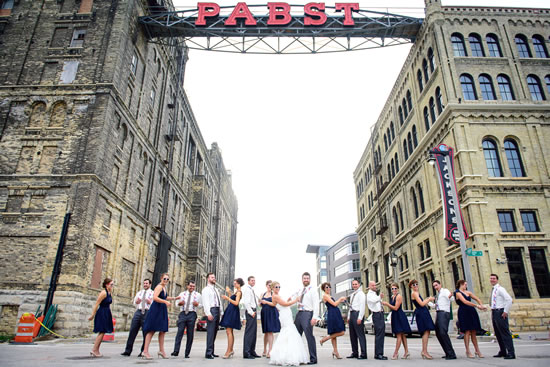 Pabst Sign Wedding Photo