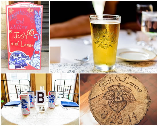 Pabst Themed Wedding