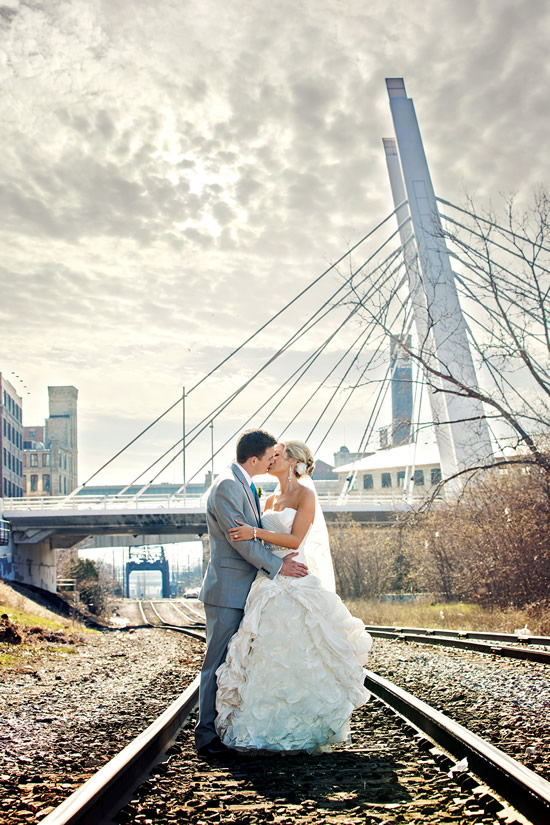 6th Street Bridge Wedding Photo