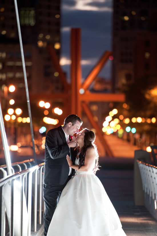 Art Museum Bridge Wedding Photo