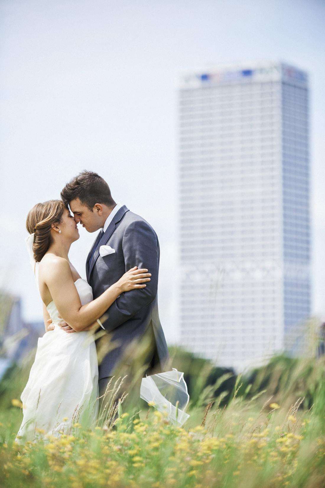 US Bank Building Wedding Photo