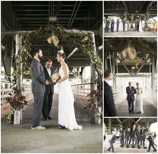 Milwaukee Wedding Ceremony on the Marsupial Bridge