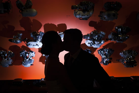 Harley Davidson Museum Couple Silhouette