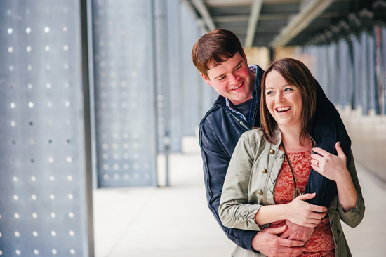 Harley Davidson Museum Engagement Photo