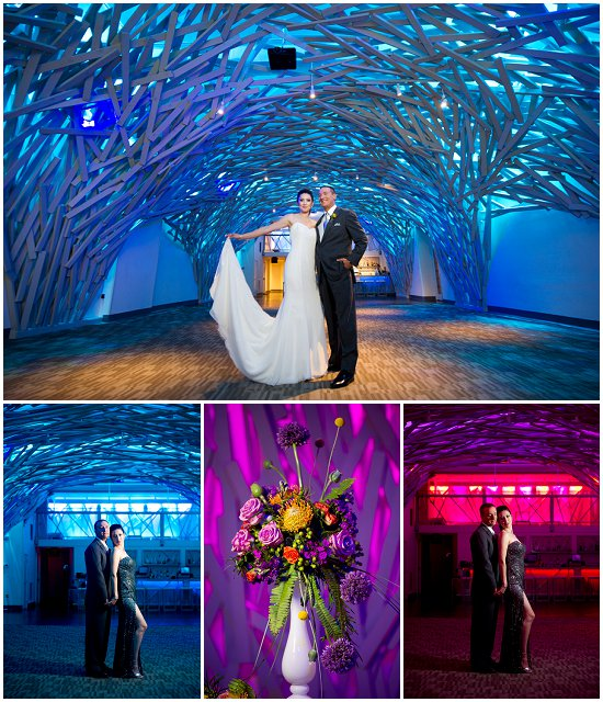 The Garden's lighting and design set it apart from other venues. Photos by JBe Photography / Flowers by Jaimer's Floral
