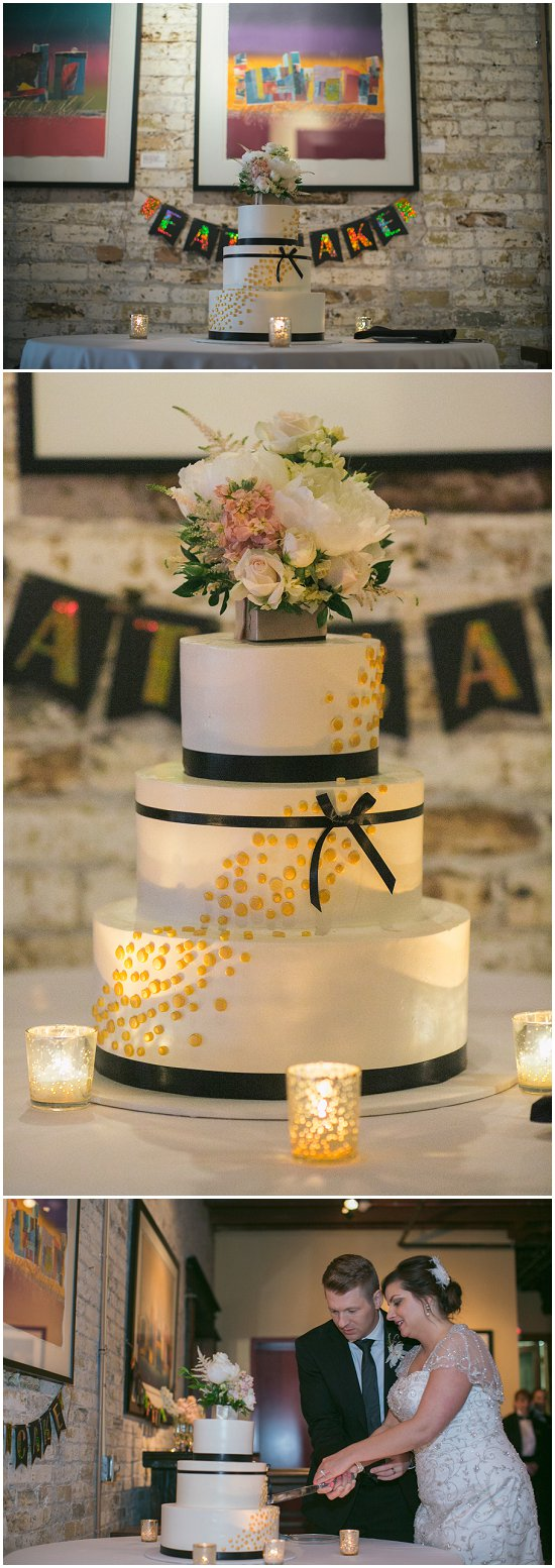 The cake at this Cuvee wedding cost this couple $750. Photos by Uttke Photography & Design