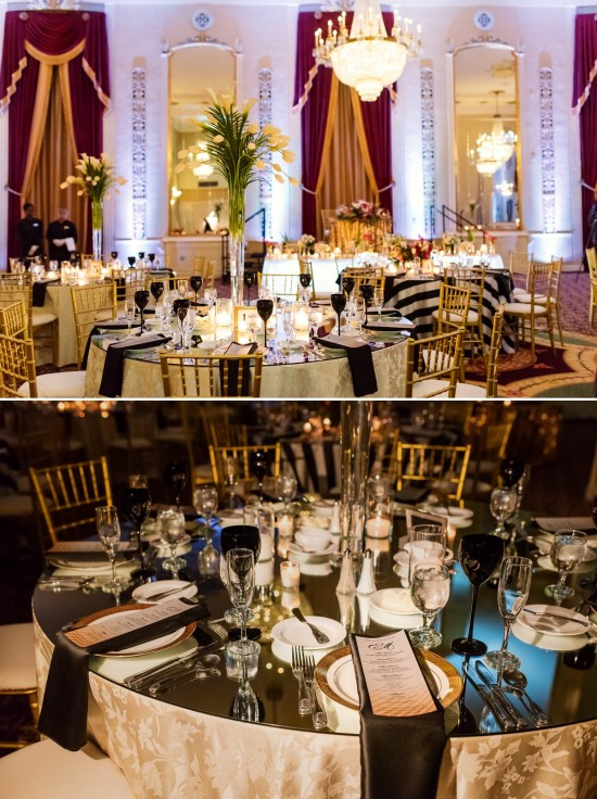 Mirror Top Tables at Wedding