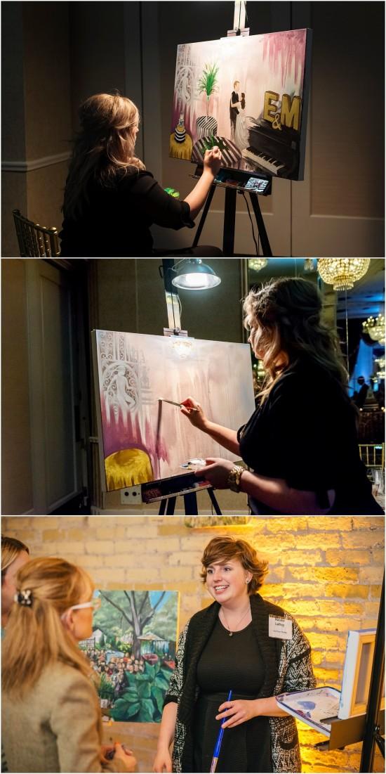 Live Painting Wedding Milwaukee