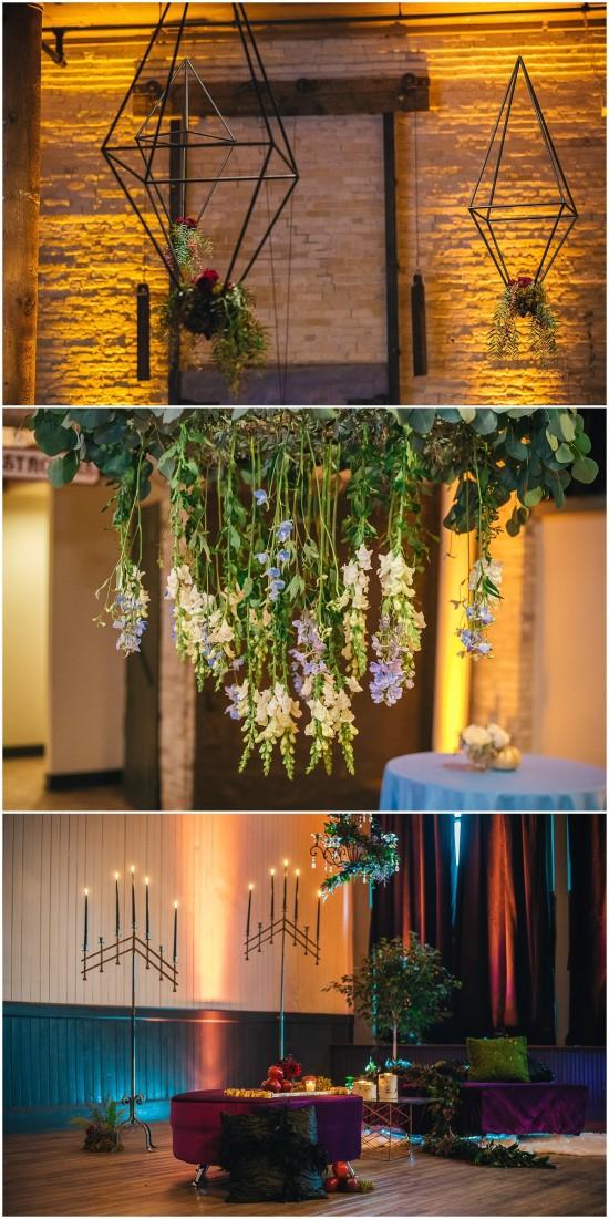 Hanging Flowers Pritzlaff Wedding
