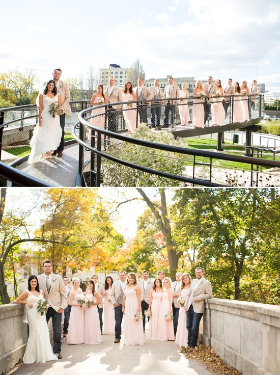 The happy couple and their wedding party in some amazing photos by  Andrea Ryerson Photography