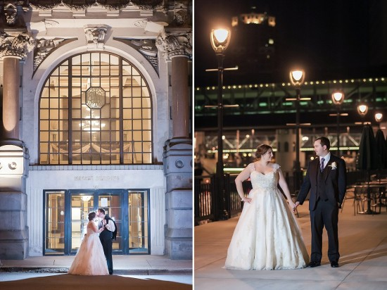 Nighttime Wedding Photos in Milwaukee