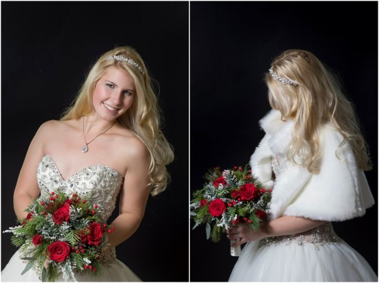 winter christmas bridal bouquet