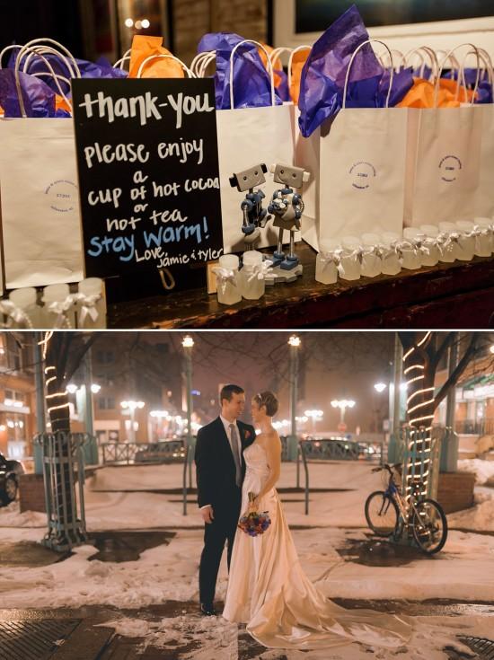 Coffee and Tea Winter Wedding Favors