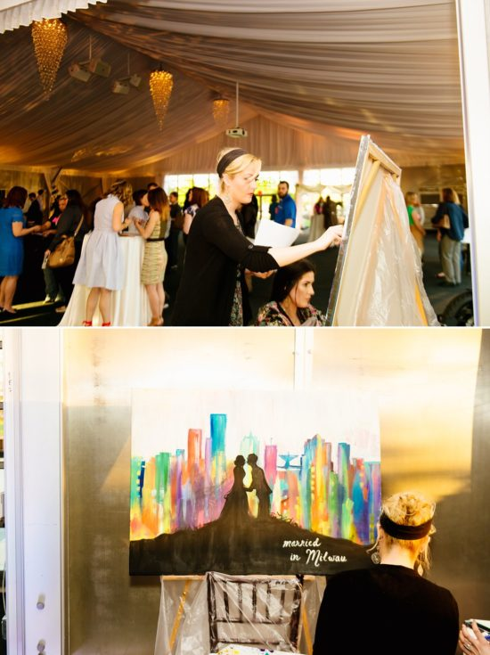 Live Wedding Painter Milwaukee