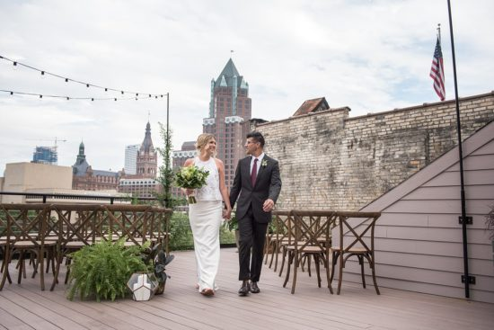 Rooftop Wedding Ceremony Milwaukee