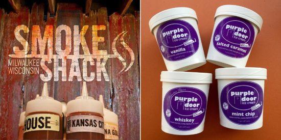 Smoke shack purple door ice cream
