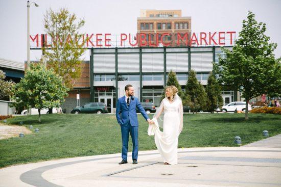 Milwaukee Public Market Wedding Photo