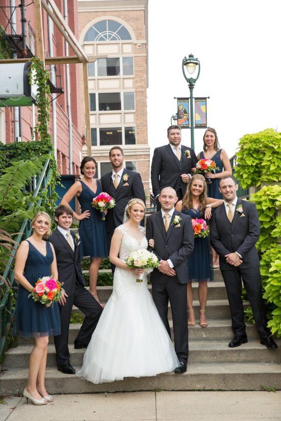 Downtown Milwaukee Wedding Photo