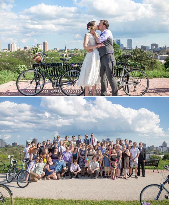 Bike Ride Wedding to the Urban Ecology Center