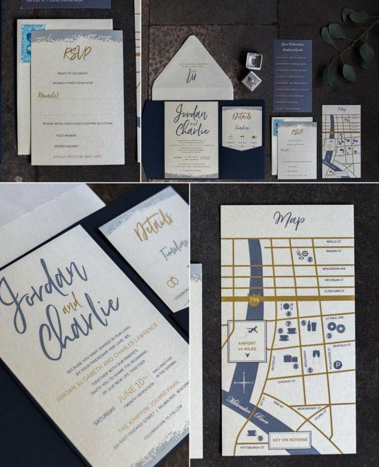Milwaukee wedding invitation designer - Design That Flies