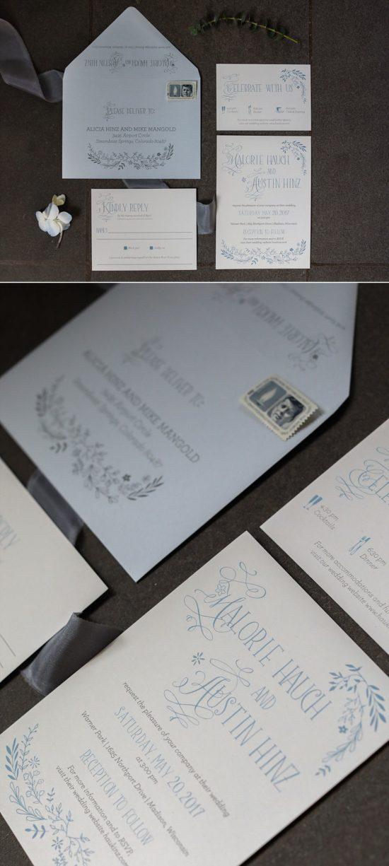 Coqui Milwaukee Wedding Invites