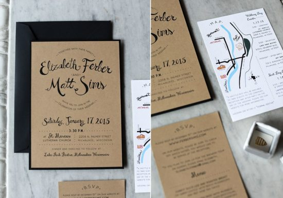 cracked design wedding inviations