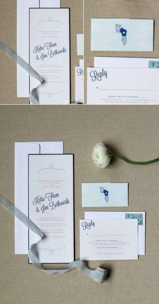 Cracked Designs Milwaukee Wedding invitations