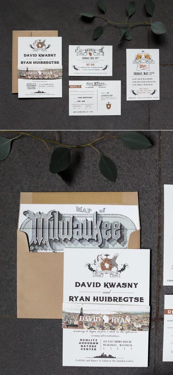 Cracked Designs Custom Milwaukee Invitations