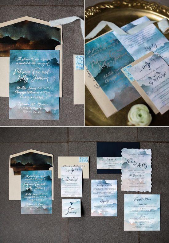 Custom Milwaukee Wedding Invitations by Paperwhites