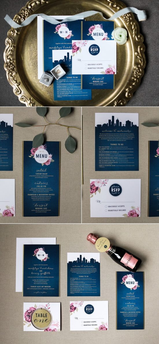 Milwaukee Wedding Invitations by Paperwhites
