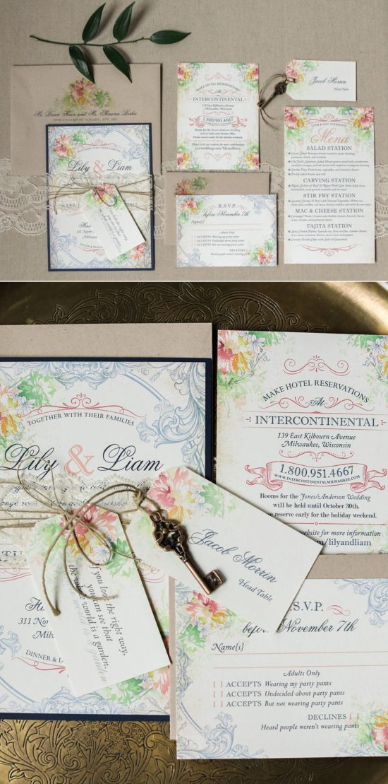 Paperwhites Milwaukee Wedding Invites