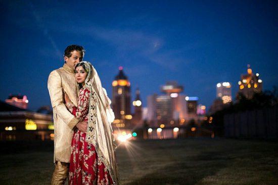 Milwaukee Skyline Wedding Photo