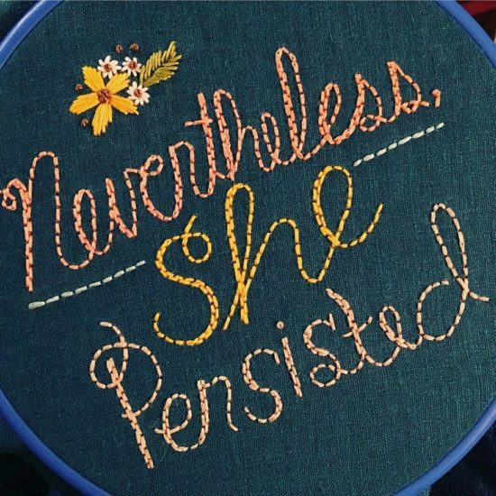 Sister Golden Hair Embroidery