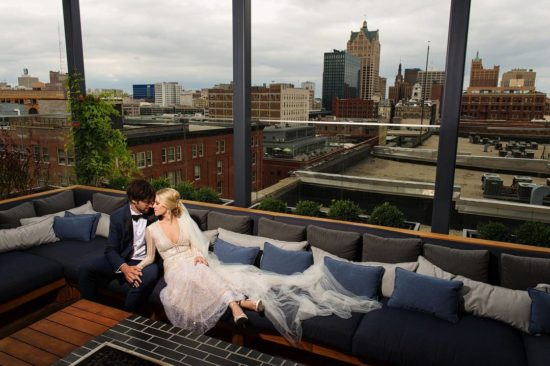 Kimpton Rooftop Milwaukee Wedding
