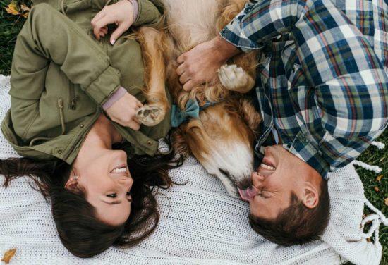 Dog Engagement Photo