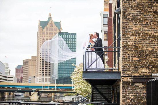 Milwaukee Wedding Skyline Photo